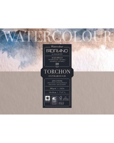 FABRIANO WATERCOLOUR STUDIO SPIRALE - GRANA TORCHON  - 270 g/mq - cm 13,5 X 21 - 12 fogli