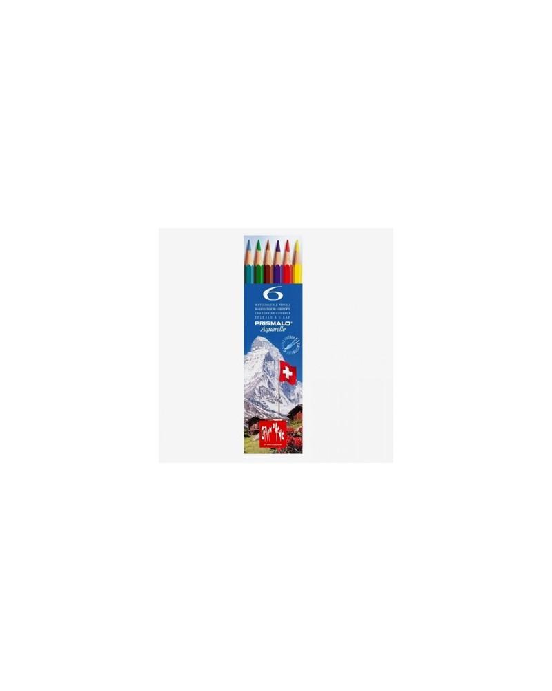 Pastelli a matita acquarellabili - CARAN D'ACHE PRISMALO da 6