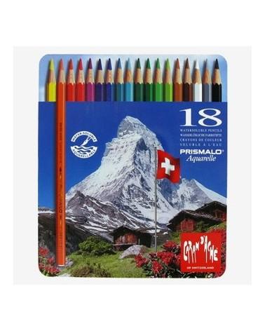 Pastelli a matita acquarellabili - CARAN D'ACHE PRISMALO da 18