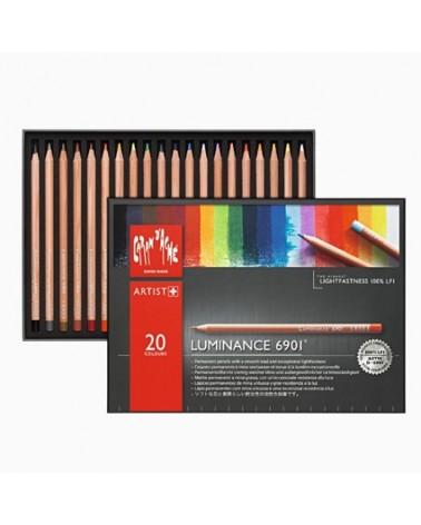 Confezione pastelli a matita - CARAN D'ACHE LUMINANCE 6901 da 20