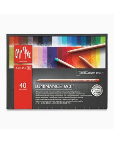 Confezione pastelli a matita - CARAN D'ACHE LUMINANCE 6901 da 40