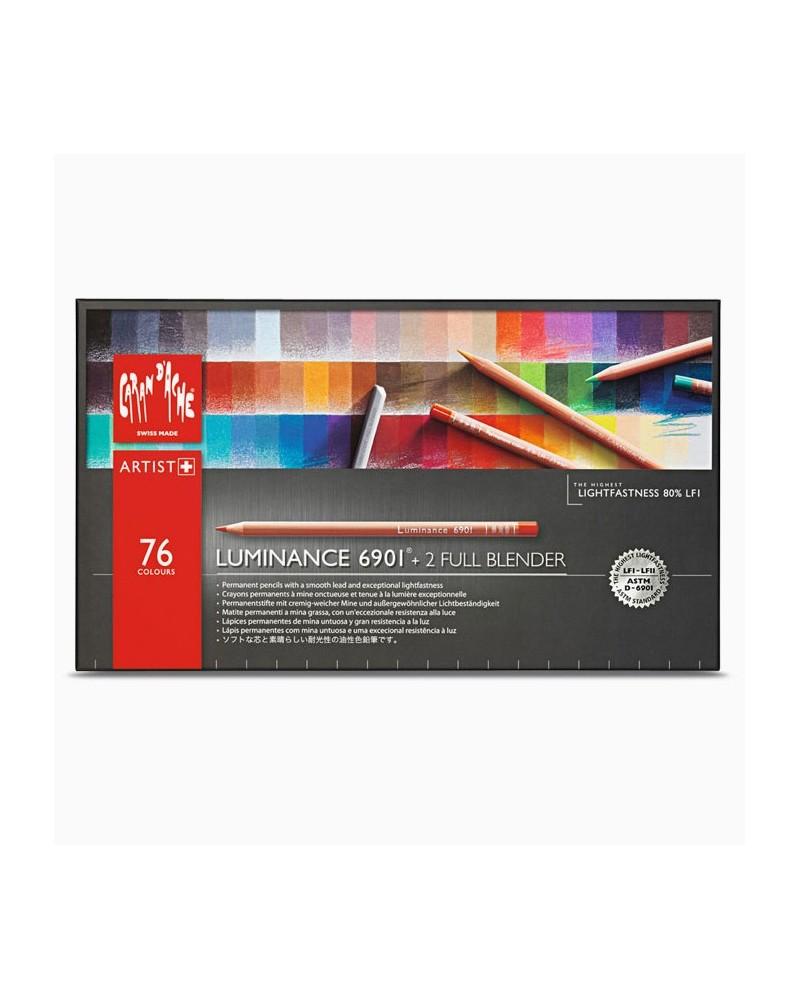 Confezione pastelli a matita - CARAN D'ACHE LUMINANCE 6901 da 76