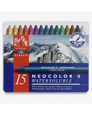 NEOCOLOR II - pastelli a cera acquarellabili in conf. da 15