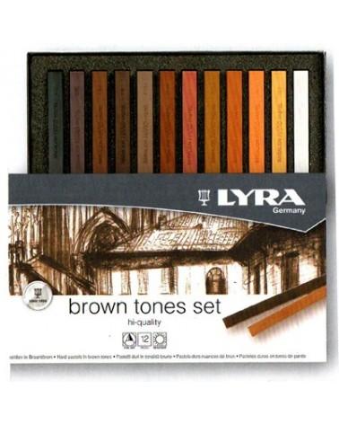 Set 12 crete brune - LYRA