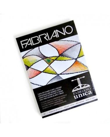 FABRIANO UNICA - BLOCCO PER STAMPE D'ARTE 50% COTONE - 250 g/mq - A4 - 20 fogli