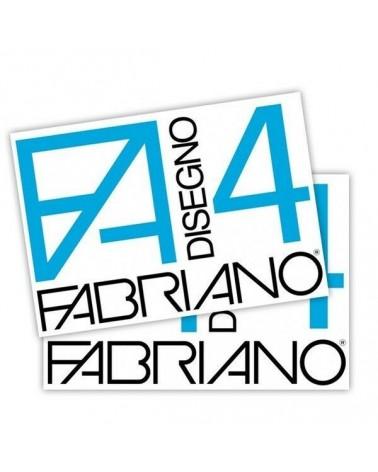 FABRIANO 4 LISCIO - BLOCCO DA DISEGNO - 220 g/mq - 24X33 cm - 20 fogli