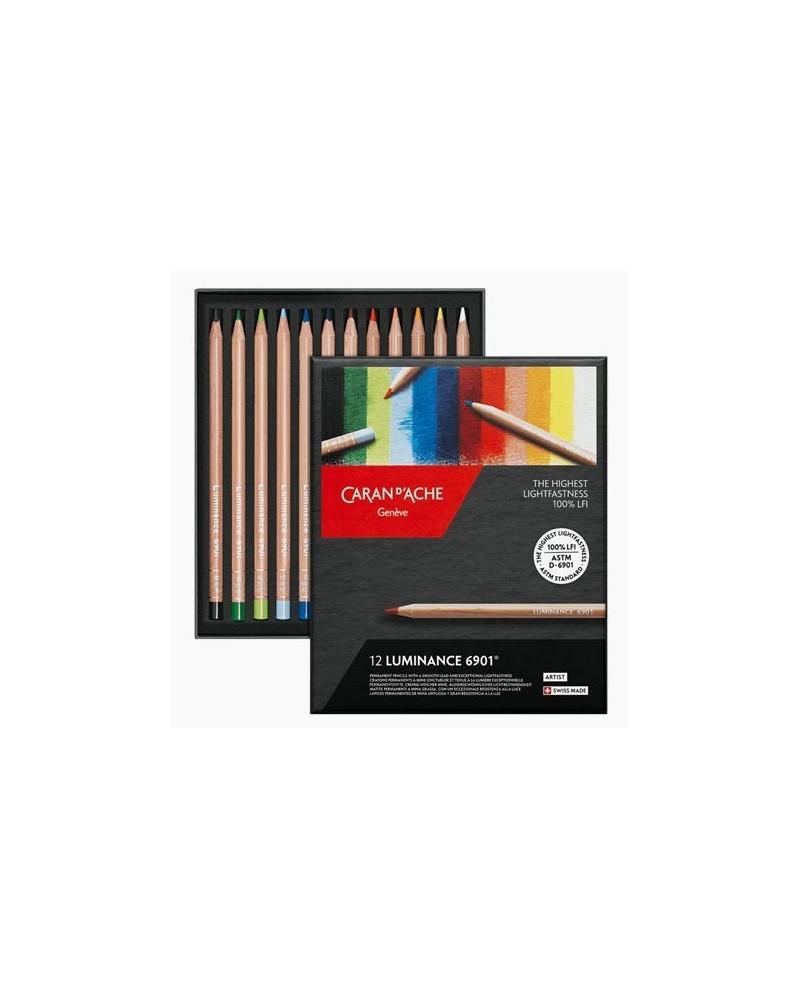 Confezione pastelli a matita - CARAN D'ACHE LUMINANCE 6901 da 12