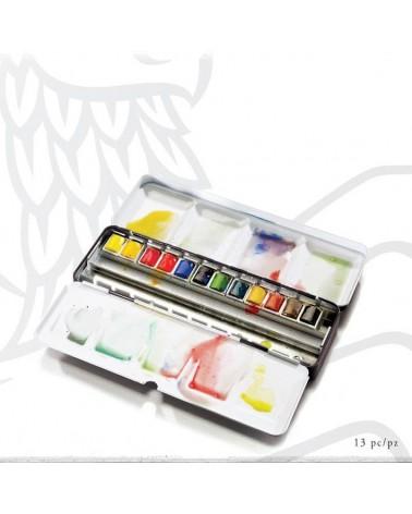 Confezione Acquarello W&N PROFESSIONAL WATERCOLOUR Black Box - 12 mezzi godet ml 1,5