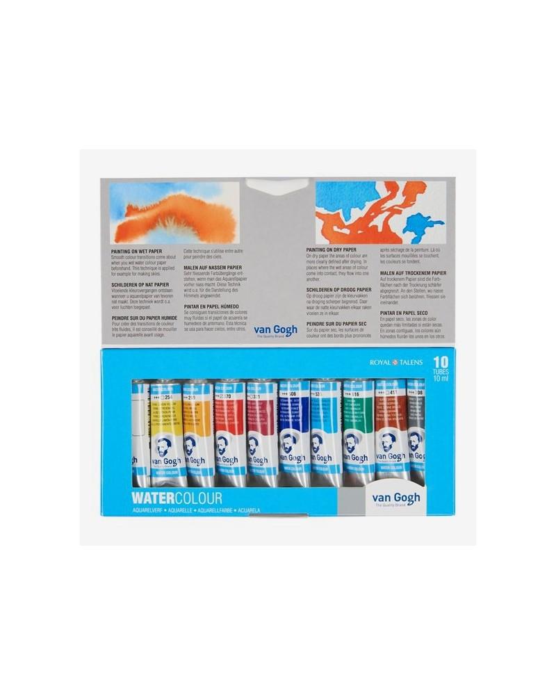 Confezione Acquarello - TALENS ACQUARELLO VAN GOGH - 10 tubi ml 10