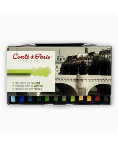 Carrés Conté - confezione da 12 tinte paesaggio