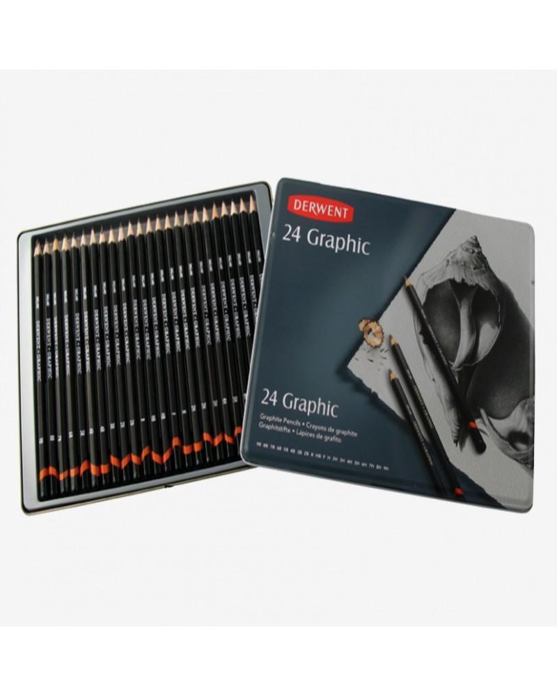 Confezione matite grafite - DERWENT GRAPHIC da 24