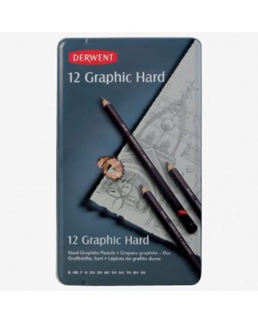 Confezione matite grafite - DERWENT GRAPHIC HARD da 12