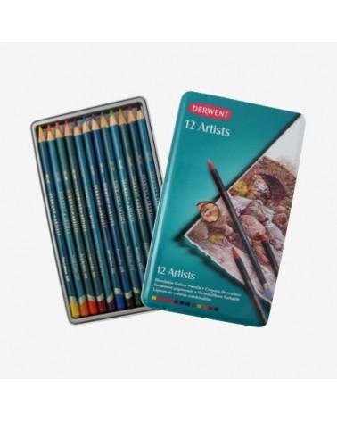 Confezione pastelli a matita - DERWENT ARTISTS da 12