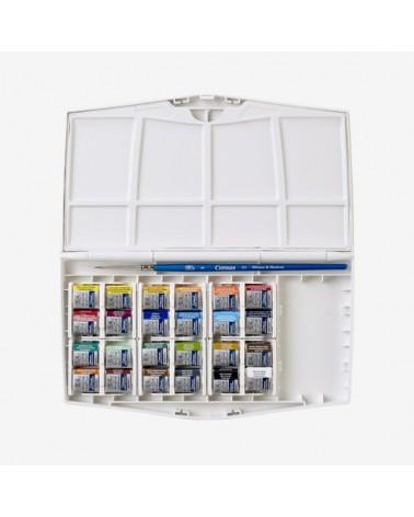 Confezione Acquarello W&N COTMAN Painting Plus - 24 mezzi godet