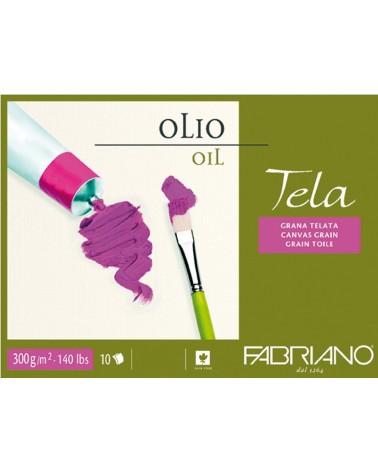 FABRIANO TELA PER OLIO - 300 g/mq - cm 18 X 24 - 10 fogli