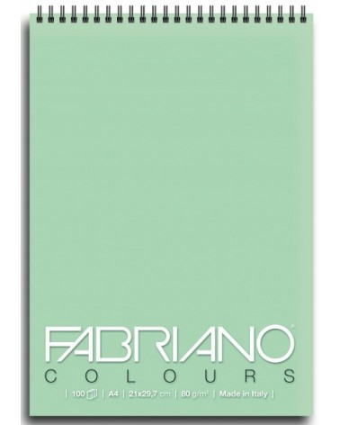 FABRIANO COLOURS - 80 g/mq - cm 14,8 X 21 - 100 fogli